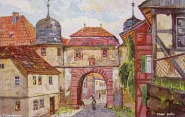 Malerei des Stadttors von Tann vom Maler Schmiegelow
